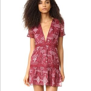 SAYLOR Alexa Dress in red